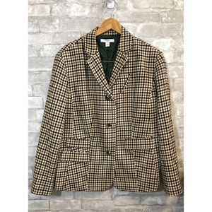 Liz Claiborne Wool Blend checkered-like blazer